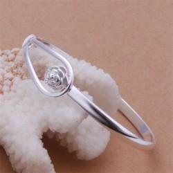 """Bracelet boucle de fleur plaqué argent """"Collection Corail"""""""