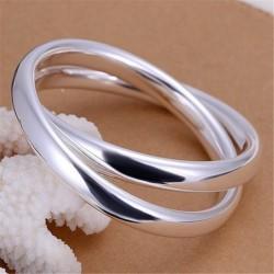 """Bracelet double plaqué argent """"Collection corail"""""""