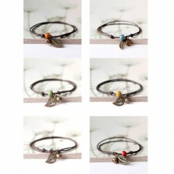 Bracelet ajustable en corde et perle en céramique